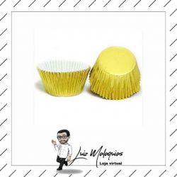Fôrmas para CupCake Dourada - 50 unid