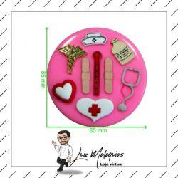 Molde de Silicone Instrumentos Medicina/Enfermagem