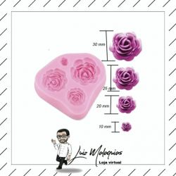 Molde de Silicone Rosas