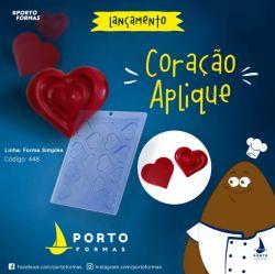 FORMA DE ACETATO APLIQUE CORAÇÃO (448)