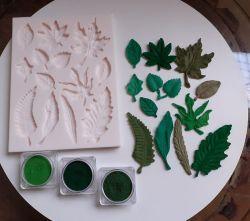 Molde de Silicone Folhas e Folhagens
