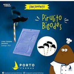 Forma de Acetato Pirulitos Bigode