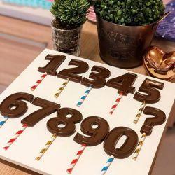Forma de Acetato Vela Números