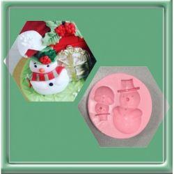 Molde de Silicone Boneco de Neve para Decorar Inverno e Natal