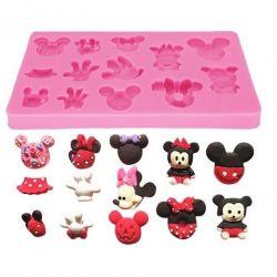 Molde de Silicone Coleção Mickey e Minie