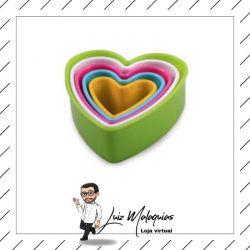 Cortador Biscoito Coração 5 Peças