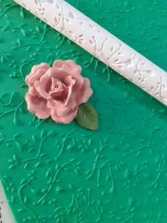 Rolinho de Textura Galho Floral