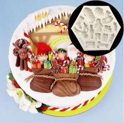 Moldes De Silicone Natal Completo, Papai Noel, Rena, Biscoito, Soldadinho de Chumbo