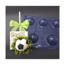 Forma de Acetato Pirulito Bola de Futebol