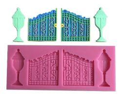 Molde de Silicone Portão de Luxo com Postes