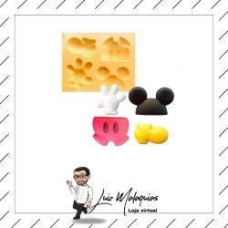 Molde de Silicone Conjunto Mickey