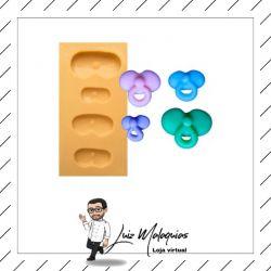 Molde de Silicone Kit de Mini Chupetas