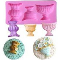 Molde de Silicone Trio de Vasos