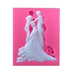 Molde de Silicone Casal de Noivos Elegantes