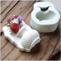 Molde de Silicone Vaso de Luxo