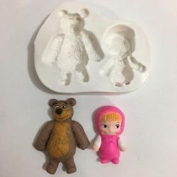 Molde de Silicone Urso e a Masha