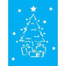 Stencil Árvore de Natal Presentes
