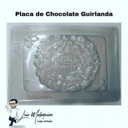 Forma de Acetato Placa de Chocolate Guirlanda