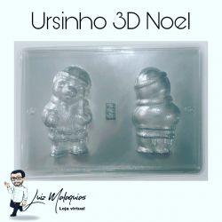 Forma de Acetato Ursinho 3D Noel
