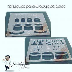 Kit Réguas para Croqui de Bolos
