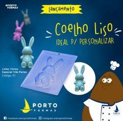 Forma Coelho Recheado  Liso Páscoa