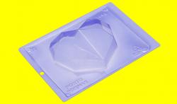 FORMA DE ACETATO COM SILICONE CORAÇÃO LAPIDADO DIAMOND 500G (62) UN PORTO