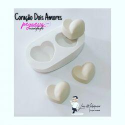 Molde Modelador Coração Dois Amores