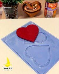 Forma de Acetato Placa Corações