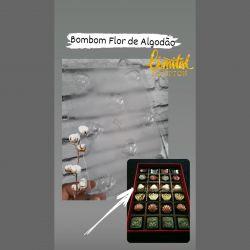 Forma de Acetato Bombom Flor de Algodão