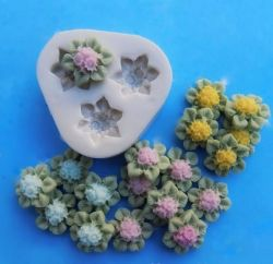 Molde de Silicone Mini Bouquet de Mini Florzinhas