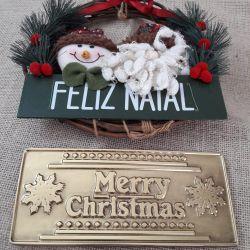 Forma de Acetato Placa de Chocolate Merry Christmas
